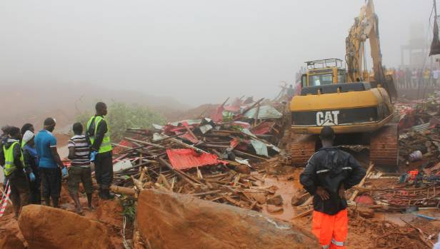 BBCI: Sierra Leone mudslide: At least 600 still missing in Freetown