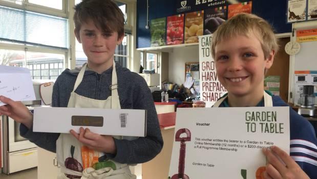 Winning students Otis Swallow, 11, and Noah Cobby, 11.