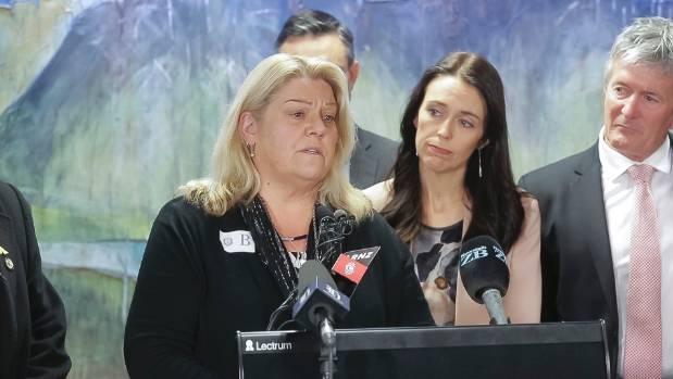 Sonya Rockhouse, whose son Benjamin was killed in the Pike River mine, speaking in September.
