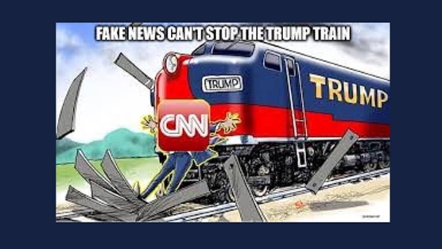 Trump retweets - then deletes - image of train running ...