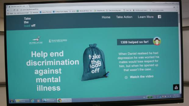 The 'Take the Load Off' website is a valuable tool for people with mental illness.