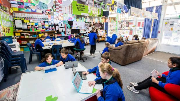 A classroom at Whitney Street School in Blenheim.