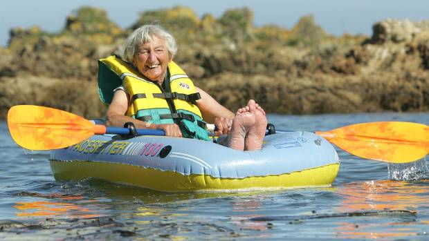 Natusch was a familiar sight paddling out on the South Coast in her inflatable dinghy.