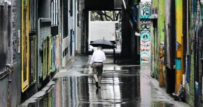 A rainy day in Wellington - who would've thought?