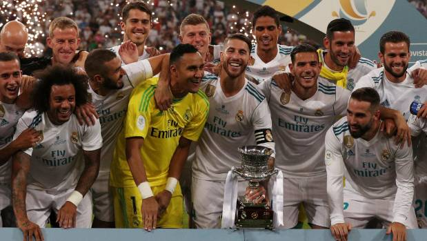 Real Madrid wins Spanish Super Cup after beating rivals Barcelona