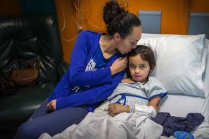 Jodeci Day, 6, was hit by ute on Highbury Ave and her mum Casey Bush is now calling for more school sings down the road.