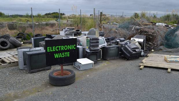 The electronic waste area at the Helensville Community Recycling Centre.
