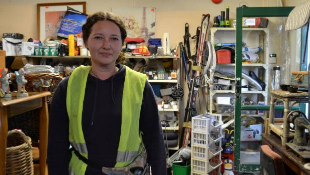 Helensville Community Recycling Centre's recycling shop manager Kylie Donaldson.