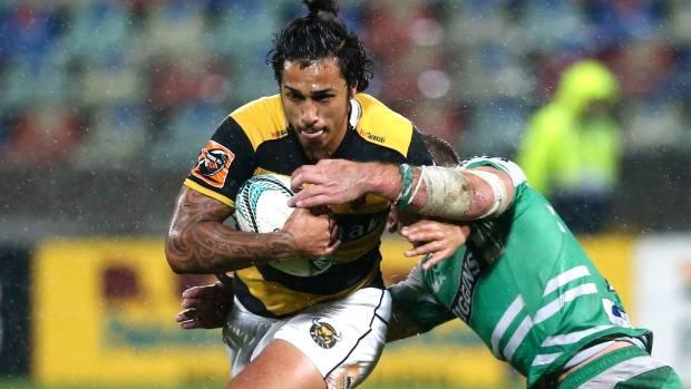 Sean Wainui has been named to start at centre for Taranaki against Waikato.