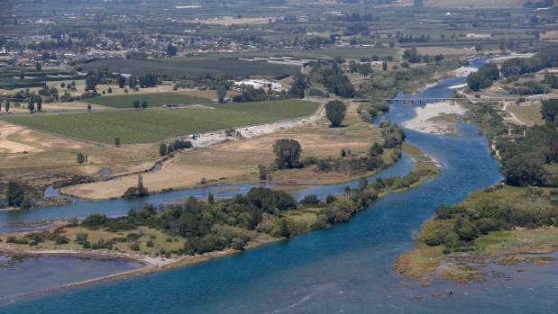 An aerial photograph of the mouth of the Motueka River. The Motueka Community board has passed a recommendation to ...