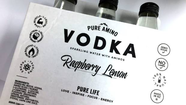 Pure Amino Vodka has a host of flavours to come out in the next month.