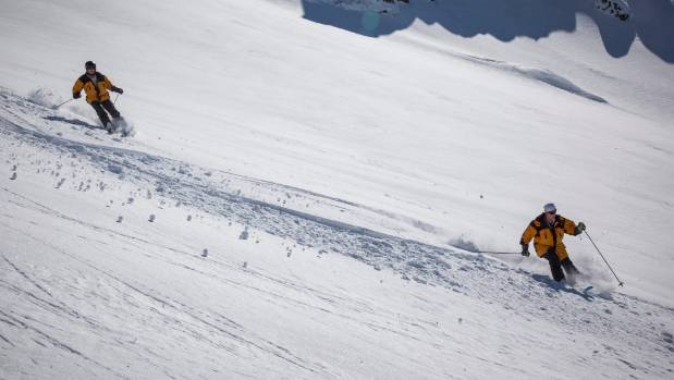 Christof, 88, and Britta Wieser, 78, are avid heli skiers who travel from from Austria to Methven for up to two months ...