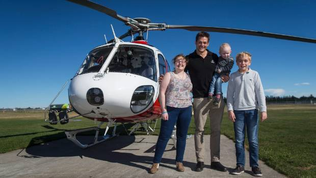 Rookie fliers Lydia Benner, 16, left, Jonty Clare, 2, and Edward Nye, 12, took to the skies on Thursday afternoon for a ...