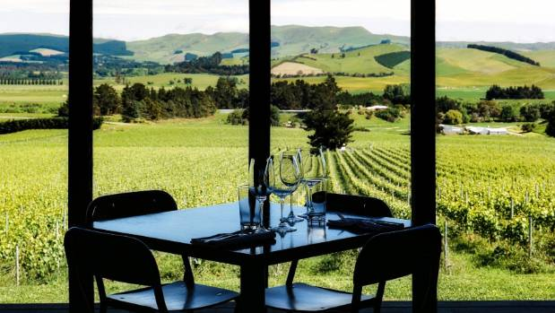 The view from the Black Estate restaurant in Canterbury.