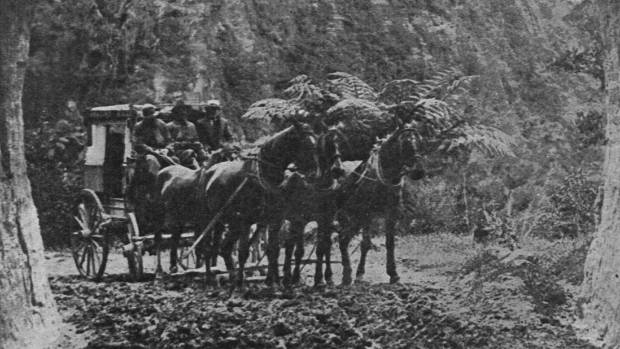 The road used to be traversed by horse drawn coaches.