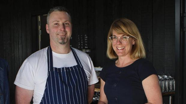 Waipara's Black Estate head chef Jacob Stanley and co-owner Penelope Naish.