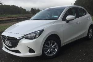The facelifted Mazda2 GLX, which is available with a choice of six-speed manual and six-speed automatic.