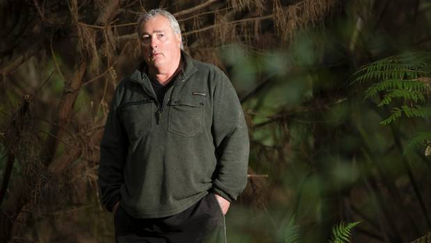 Alan Ford found a bag of clothing buried under a layer of pine needles in a patch of pine forestry near Whangamata that ...