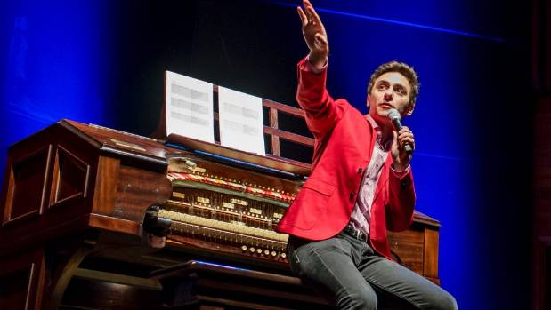 Wurlitzer enthusiast Nathan Avakian holds sway at the International Youth Silent Film Festival's Tauranga regional ...