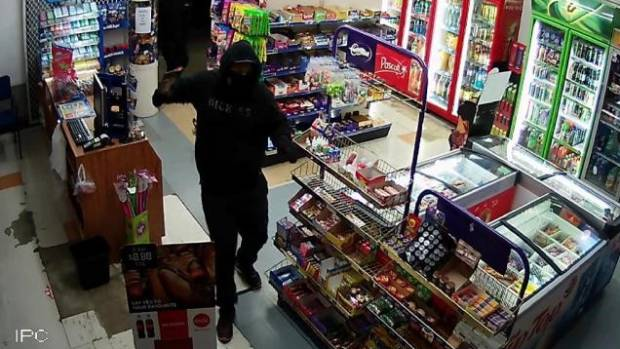 Two offenders armed with a tomahawk robbed the Aberdeen Superette  on June 25.