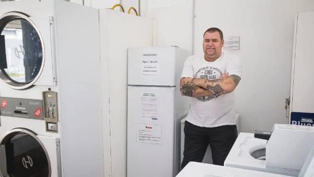 Sean Warren organised the fridge as a way to help people in the Inglewood community.