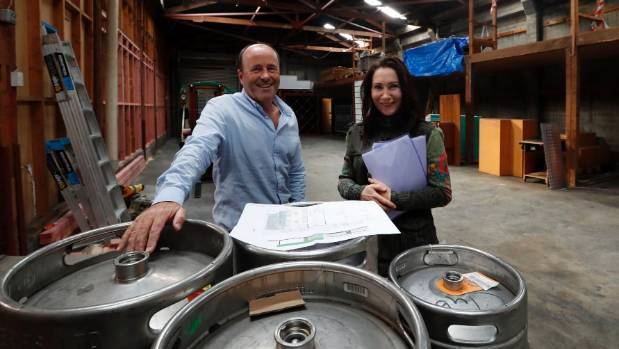 Tony Vining and Gill Ireland inside the former Mill building on New St, now destined to house a microbrewery.