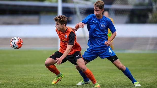 Callan Elliot in action during Tasman United's National Youth League campaign last year.