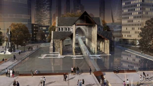 A Walker Community Architects' plan for Christ Church Cathedral.