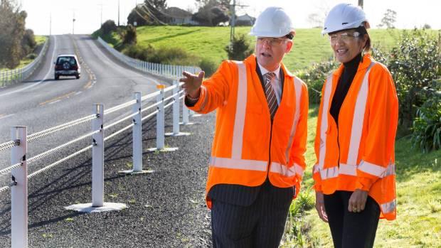 Associate Minister of Transport Tim Macindoe, left, and NZ Transport Agency regional relationships director Parekawhia ...