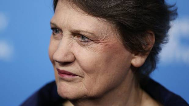 Former prime minister Helen Clark calls for the next generation of female leaders to get organised to get a level ...