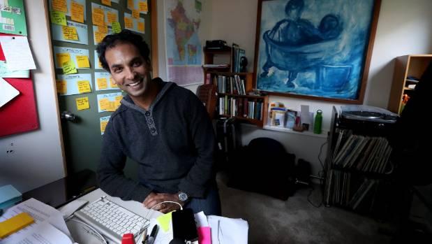 Jacob Rajan at his home office.