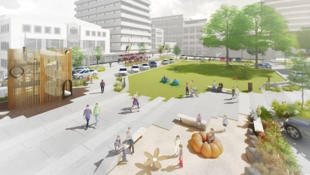 The new design for Hamilton's Garden Place, put forward by Hamilton property investors Matt Stark, Steve McLennan and ...