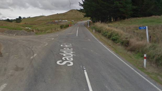 Police attended a one-car crash on Manawatu's Saddle Rd.