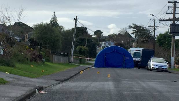 Forensics remain at the scene as investigations into the man's death continue.
