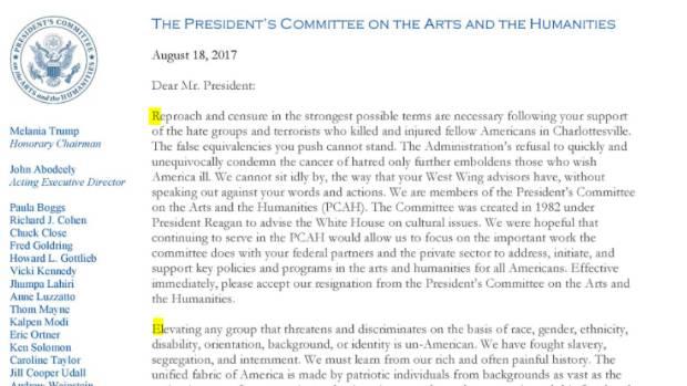 Arts Council Resignation Letter Hidden Message