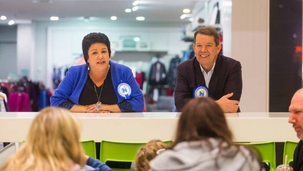 Minister Paula Bennett and New Plymouth MP Jonathan Young met with locals while on in the campaign trail in New Plymouth ...