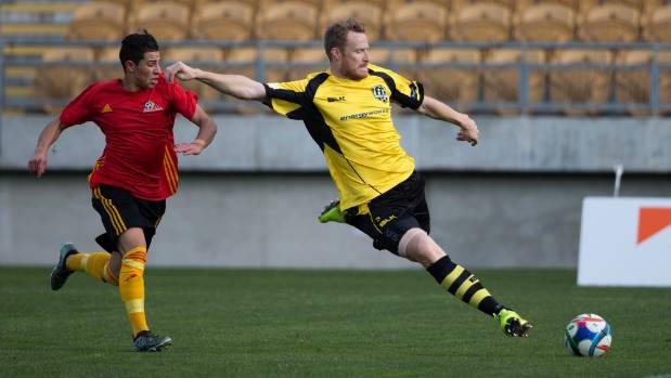 Paul Cunningham scored the second of Team Taranaki's goals against Napier City Rovers.