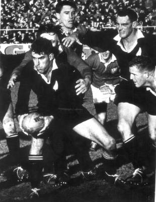 Colin Meads in action during the Lions tour in 1966.