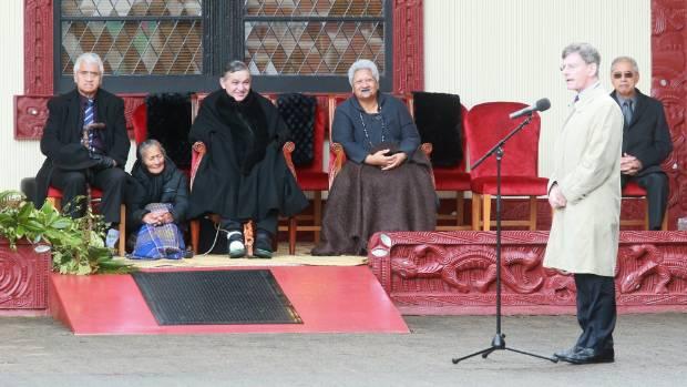 National's Treaty Minister, Chris Finlayson, spoke at the festivities on Sunday.