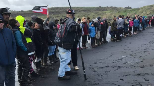 Hundreds of seabed mining protesters gathered at Patea Beach on Sunday to demonstrate against the landmark decision to ...