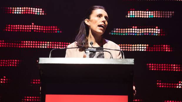 Jacinda Ardern speaks at Labour's campaign launch.