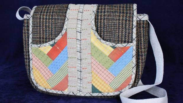 Harris Tweed Bag by Susan Eagle, of Motueka, was second in the created with fabric class.