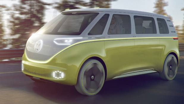 Volkswagen's I.D. Buzz which has been confirmed for production in 2022.