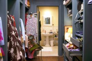 Which fashionable TV show character owned this closet?