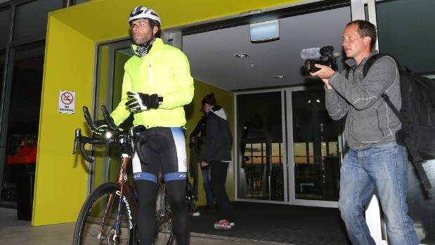 Scottish Adventure cyclist Mark Beaumont at Invercargill Airport before embarking on the New Zealand leg of his trip, to ...