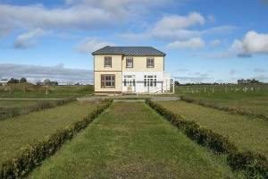 Hillcrest, a 140-year-old colonial villa from Marshlands, Christchurch has come to rest in the middle of a field near ...
