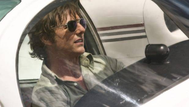 Tom Cruise as pilot Barry Seal in a scene from American Made.
