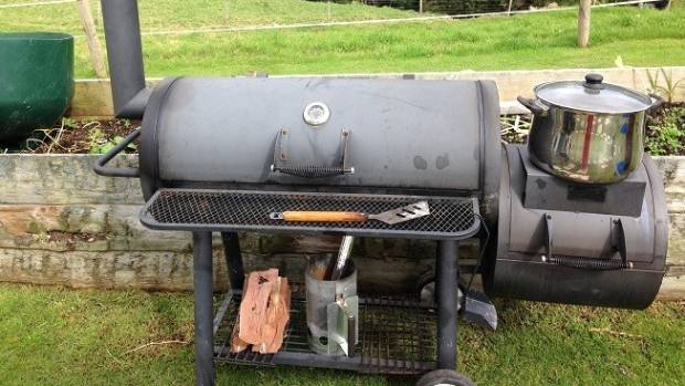 Two people were left with burns when a barbecue exploded at a Coromandel man's birthday party.