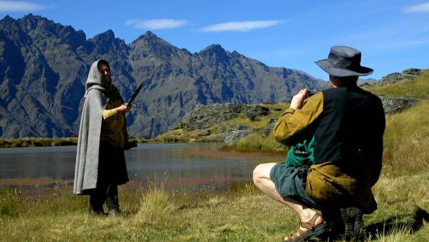 Lord of the Rings fans in the Remarkables near Wanaka.