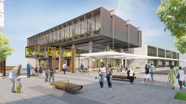 An artist's impression of the library and community centre planned for Westgate.